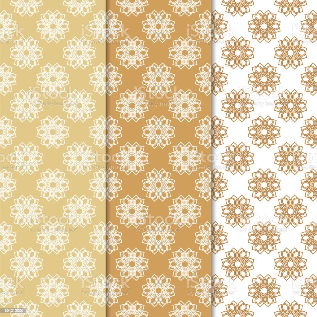 Floral seamless patterns. Set of orange vertical wallpaper backgrounds royalty-free floral seamless patterns set of orange vertical wallpaper backgrounds stock vector art & more images of art product