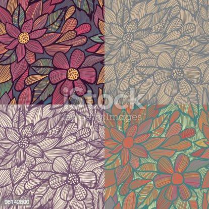 원활한 플로럴 패턴 0명에 대한 스톡 벡터 아트 및 기타 이미지 98142800