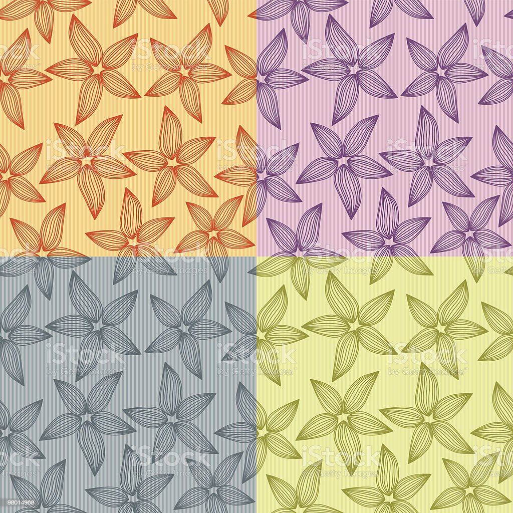 Motivo floreale senza soluzione di continuità motivo floreale senza soluzione di continuità - immagini vettoriali stock e altre immagini di astratto royalty-free