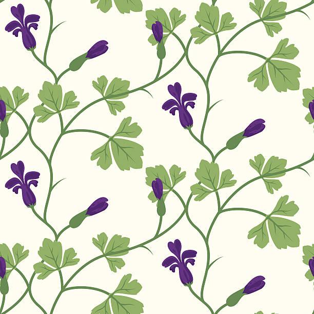 Floral Seamless Vector Pattern Design Purple vector art illustration