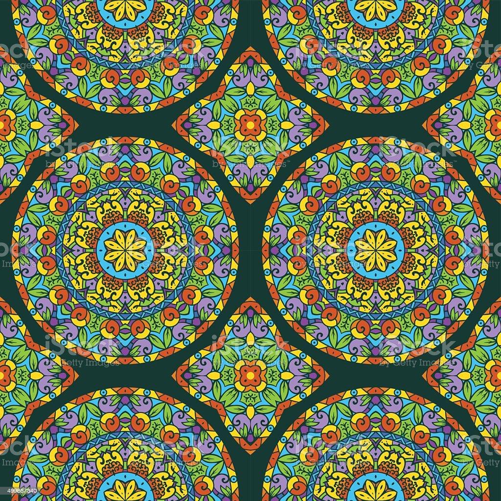 Floral Seamless Vector Pattern vector art illustration