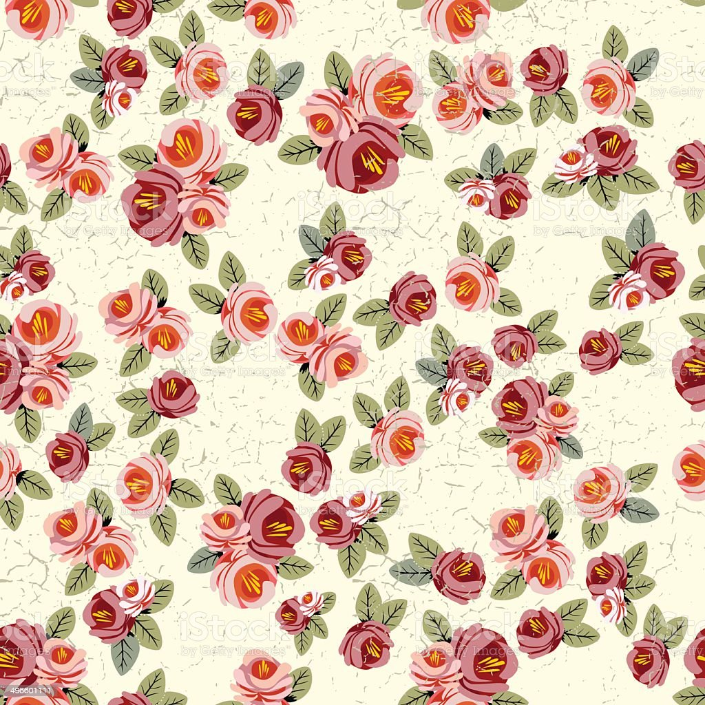depositphotos_23226584-wallpaper-vintage-rose-pattern-on ... |Vintage Floral Rose Pattern