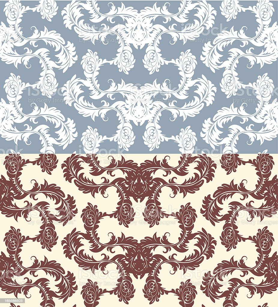 Floral Seamless Wallpaper Pattern royalty-free stock vector art