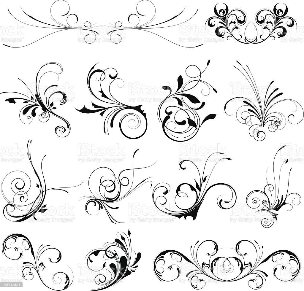 Floral Set royalty-free floral set stock vector art & more images of backgrounds