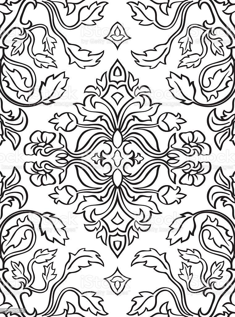 Ilustración de Flores Dibujo Para Alfombra y más banco de imágenes ...