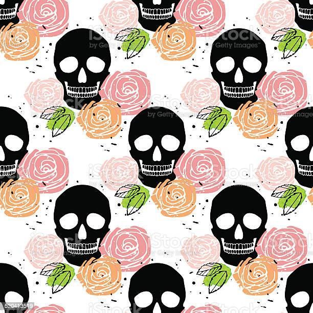Floral skull seamless pattern vector id520413519?b=1&k=6&m=520413519&s=612x612&h=d2kywuxhvd1tfgxtz jfwfzpplcu3pvbgxn9udvr9ly=