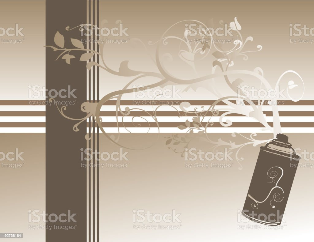 Floral Spray royalty-free stock vector art