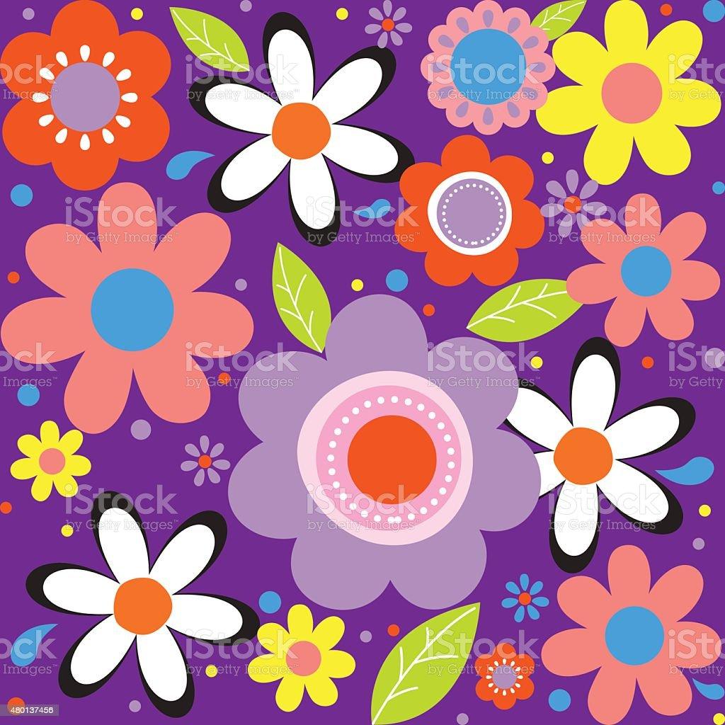 Floral Spring Flower Illustrator Design Stock Vector Art More