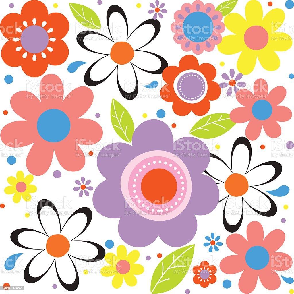 floral spring flower illustrator design stock vector art 480137462
