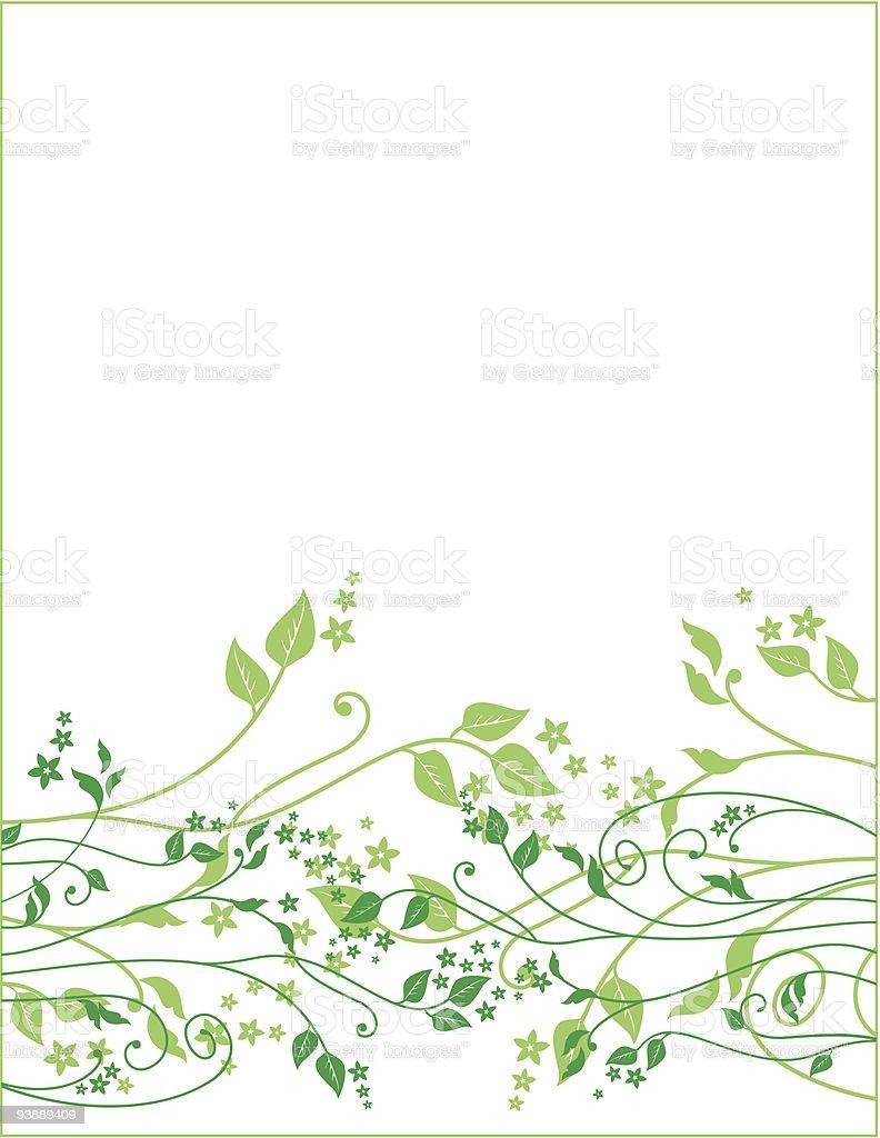Blumen Frühling-ornament – Vektorgrafik
