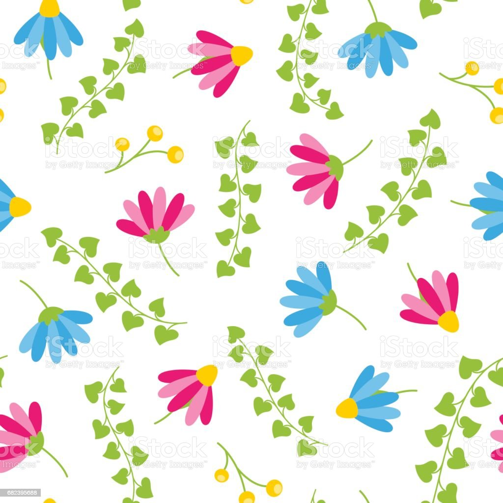 Floral spring seamless pattern with white background blooms and berries royalty-free floral spring seamless pattern with white background blooms and berries stock vector art & more images of abstract