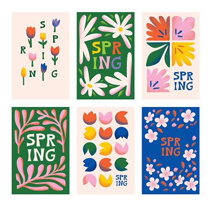 Plantillas de primavera floral