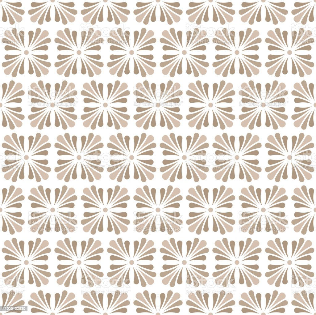 Floral Stylish Seamless Pattern. Vector Leaf background. Fabric Ornament texture.