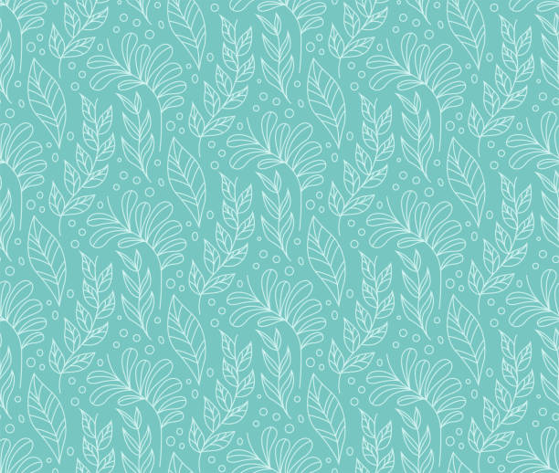 floral stylish seamless pattern. vector leaf background. fabric ornament texture. - floral and decorative background stock illustrations