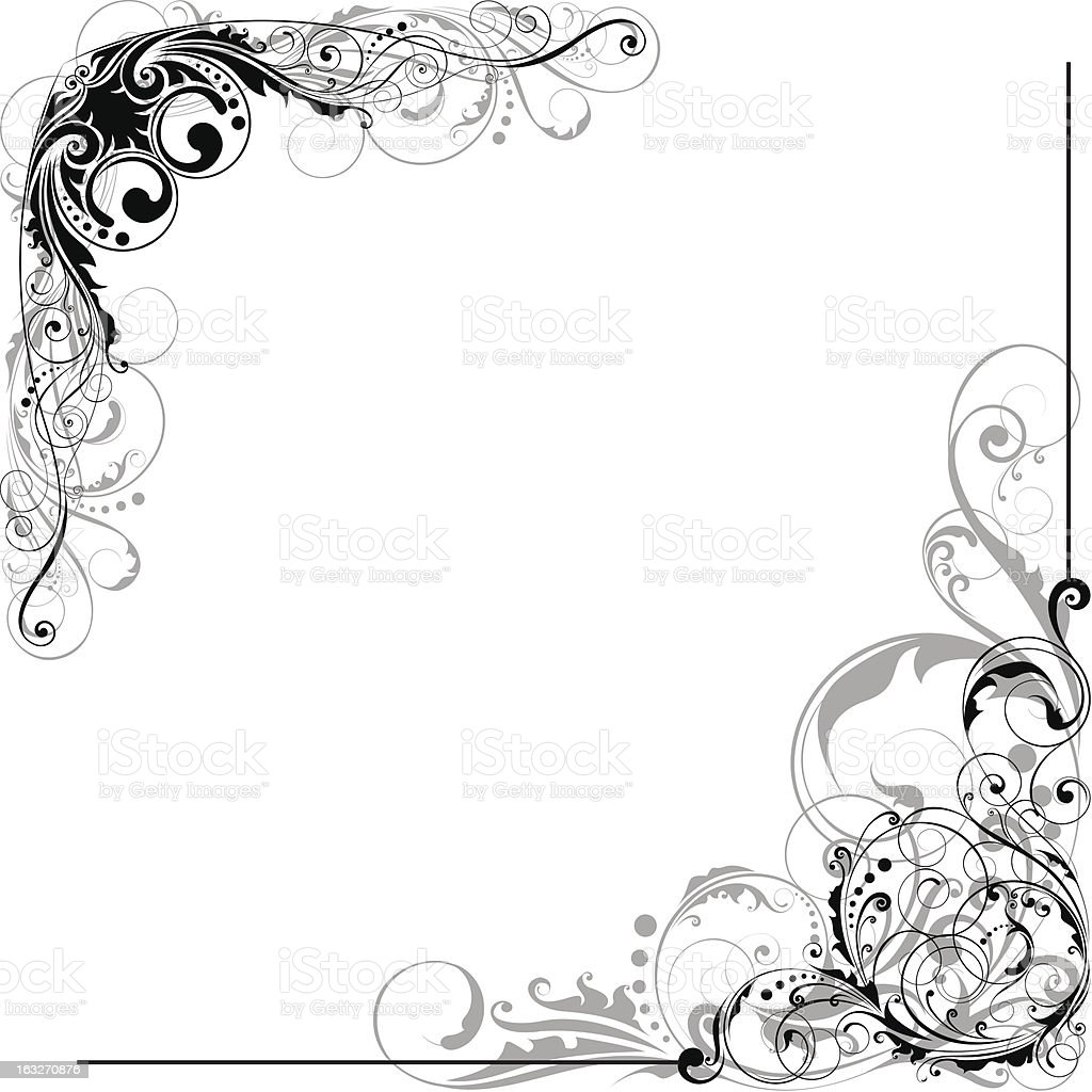 Floral swirl element royalty-free floral swirl element stock vector art & more images of abstract