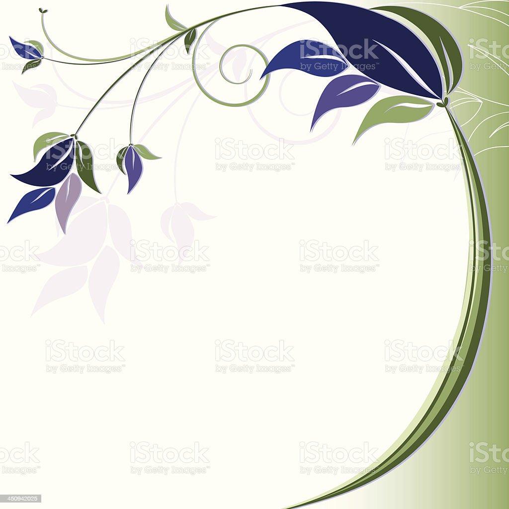 floral swirls background design rich blue purple green