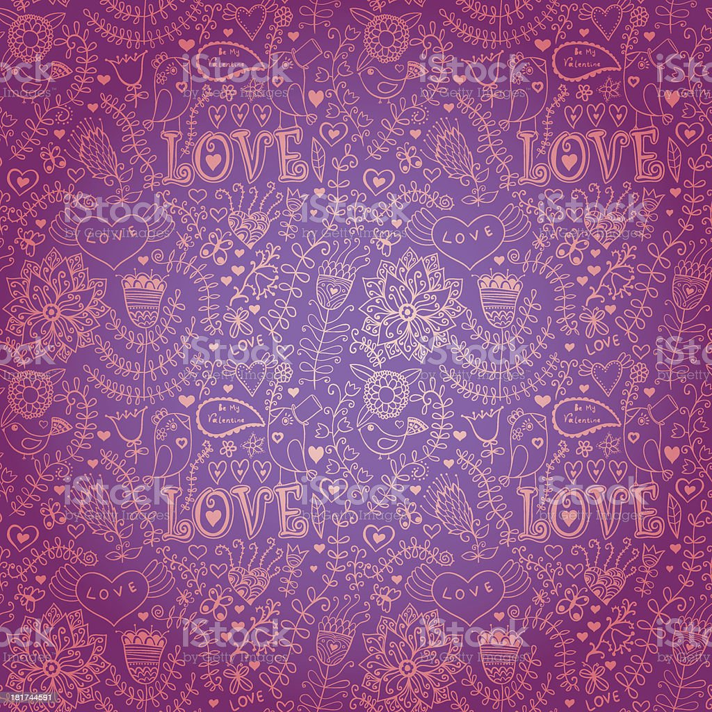 Floral texture. 'Love' pattern with couple birds royalty-free floral texture love pattern with couple birds stock vector art & more images of abstract