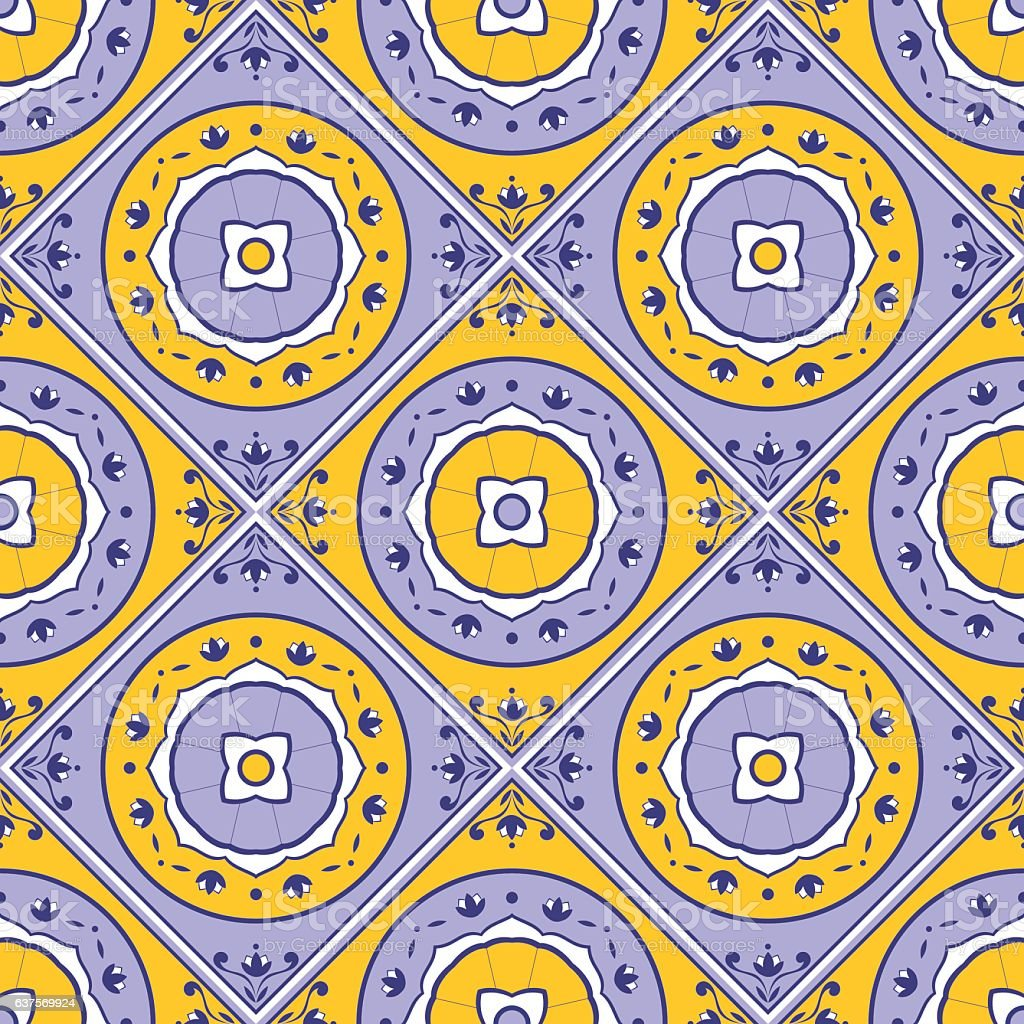 Floral tile pattern vector seamless vector art illustration