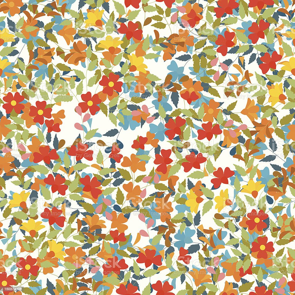 Floral tile royalty-free stock vector art