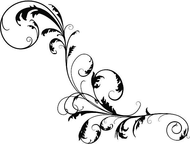 フローラル twirly スクロール - ロココ調点のイラスト素材/クリップアート素材/マンガ素材/アイコン素材
