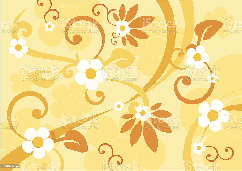 Floral vector background royalty-free stock vector art