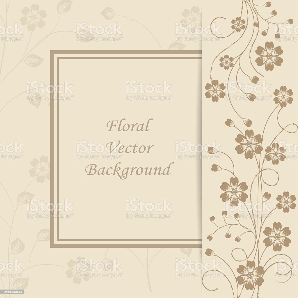 Floral vector background. royalty-free floral vector background stock vector art & more images of abstract