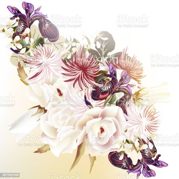 Floral vector background with roses and other flowers vector id537302533?b=1&k=6&m=537302533&s=612x612&h=agnabsd6opspss4fjqxxarwvwz6xj5ryig8eofijkta=