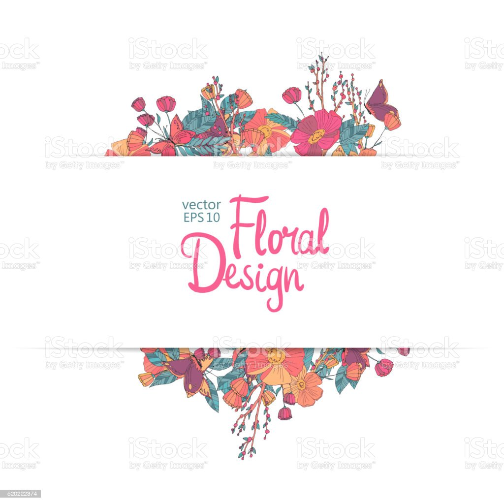 Floral vector border stock vector art more images of autumn floral vector border royalty free floral vector border stock vector art amp more images stopboris Choice Image