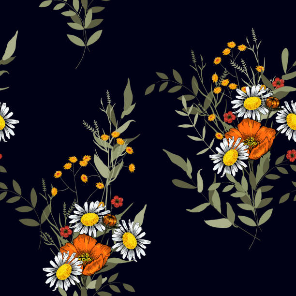 floral vector illustration for fashion, fabric. surface and textile print.japanese garden seamless pattern spring asia flowers. - spring fashion stock illustrations, clip art, cartoons, & icons