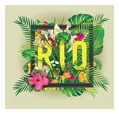 floral vector rio postcard