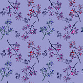 istock Floral vector seamless pattern 1216279170
