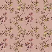 istock Floral vector seamless pattern 1216279171