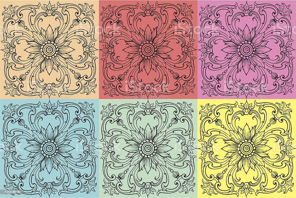 Floral vector royalty-free stock vector art