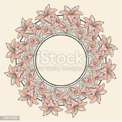 Floral Vignette LILIES