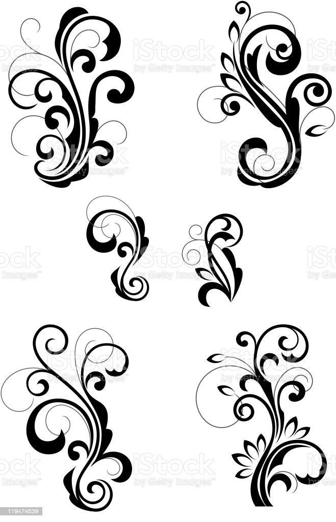 Floral vintage patterns vector art illustration