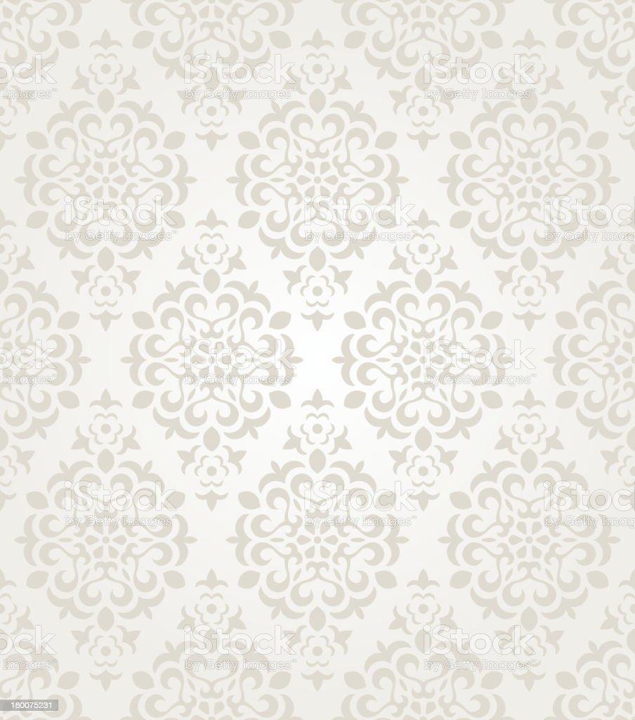 Floral vintage wallpaper vector art illustration