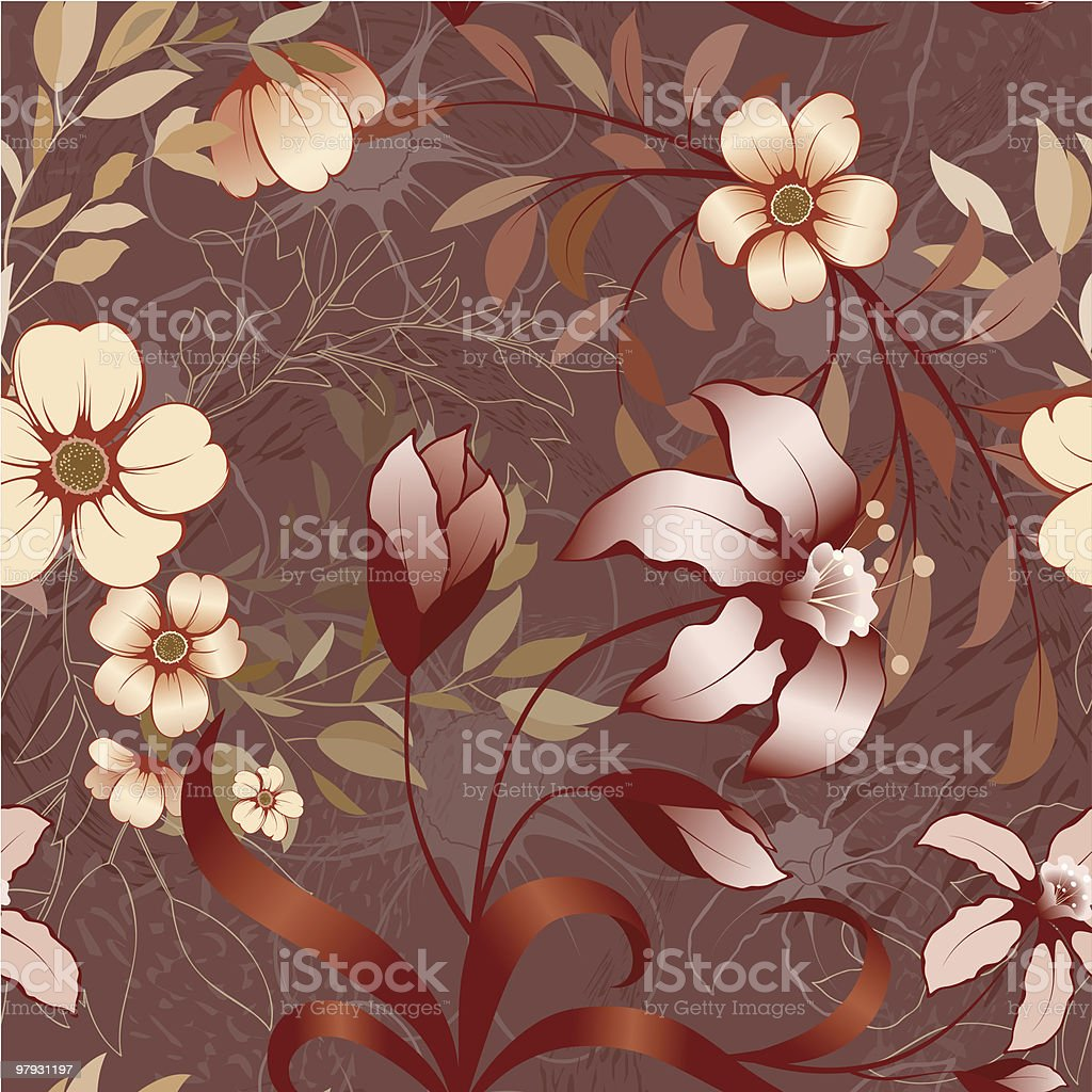 Floral wallpaper. royalty-free floral wallpaper stock vector art & more images of art