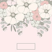 istock Floral Wedding background  with pink flowers 1224333921