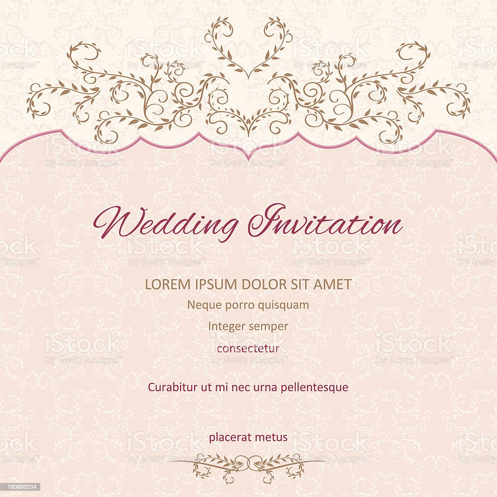 Floral Wedding Invitation Background royalty-free stock vector art