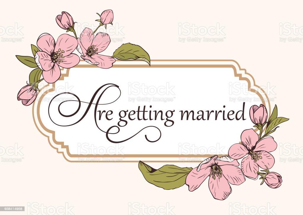 Modèle De Carte Dinvitation Mariage Floral Avec Texte
