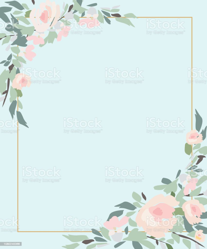 Floral Wedding Invitation Elegant Invite Card Stock