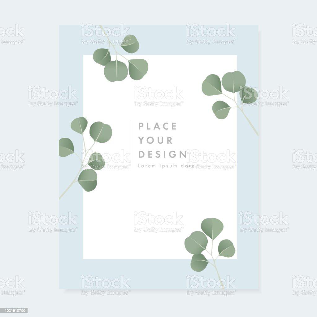 Ilustración De Invitación Floral De La Boda Tarjeta De