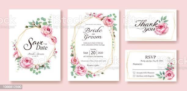 Floral wedding invitation save the date thank you rsvp card design vector id1066812590?b=1&k=6&m=1066812590&s=612x612&h=yuvaz2zsj3uteuqsculqkrflkuiy3hzrl2kwzromw8a=