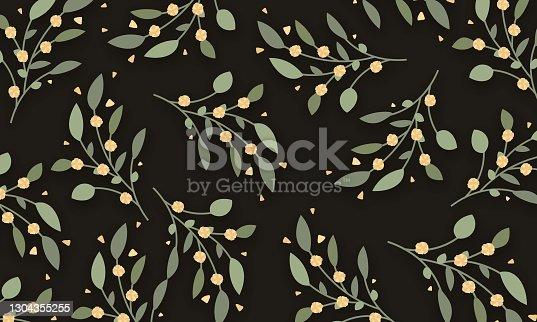 istock Floral Wedding Invitation Template stock illustration 1304355255