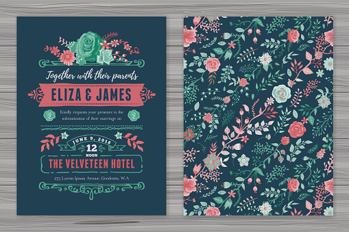 Wedding invitation stock illustrations