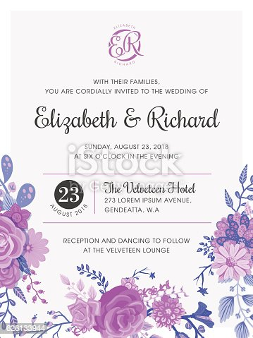 istock Floral Wedding Invitation Template 626133944