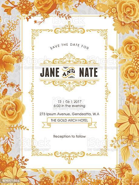 Floral wedding invitation template vector id626371894?b=1&k=6&m=626371894&s=612x612&h=fpwwmhryzx qwdrkqeile6ocpac 69qxehqkgfyawoo=