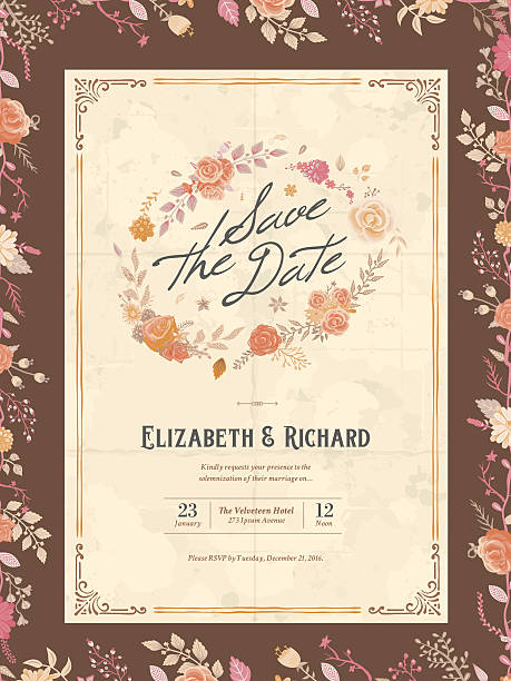 Free Red Wedding Invitation Vector Art