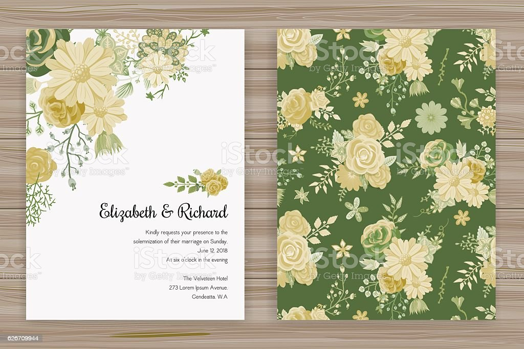 Floral Wedding Invitation Template Stock Vektor Art Und Mehr Bilder Von Ast