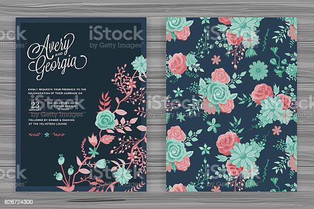 Floral wedding invitation template vector id626724300?b=1&k=6&m=626724300&s=612x612&h=bvpnrnkkurisvw0kcdddj5uzmr1e dsj8ykdpv w1uc=